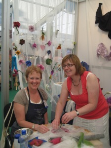 Kathrina converted Eleanor from Ceramics Ireland to feltmaking