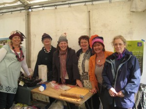 Members of Feltmakers Ireland with the Northern Ireland Minister for Agriculture Michelle Gildernew (third from left) wearing a felt hat designed and made by Suzanne Phelan.