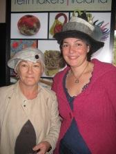 Louise & Gabi wearing the beautiful hats