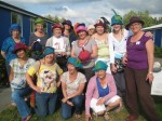 Group from Hat Making workshop at Felt in Focus 2009