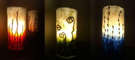 Capture felt lamp