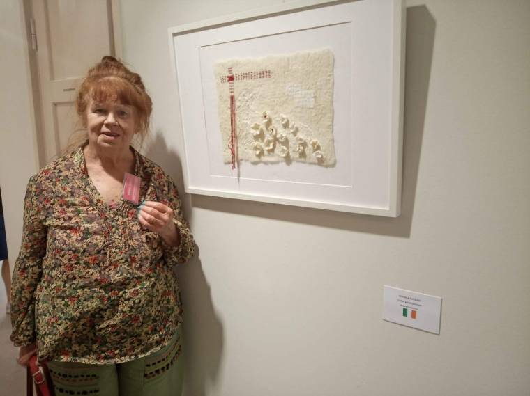 Maureen Cromer at Finnish exhibition